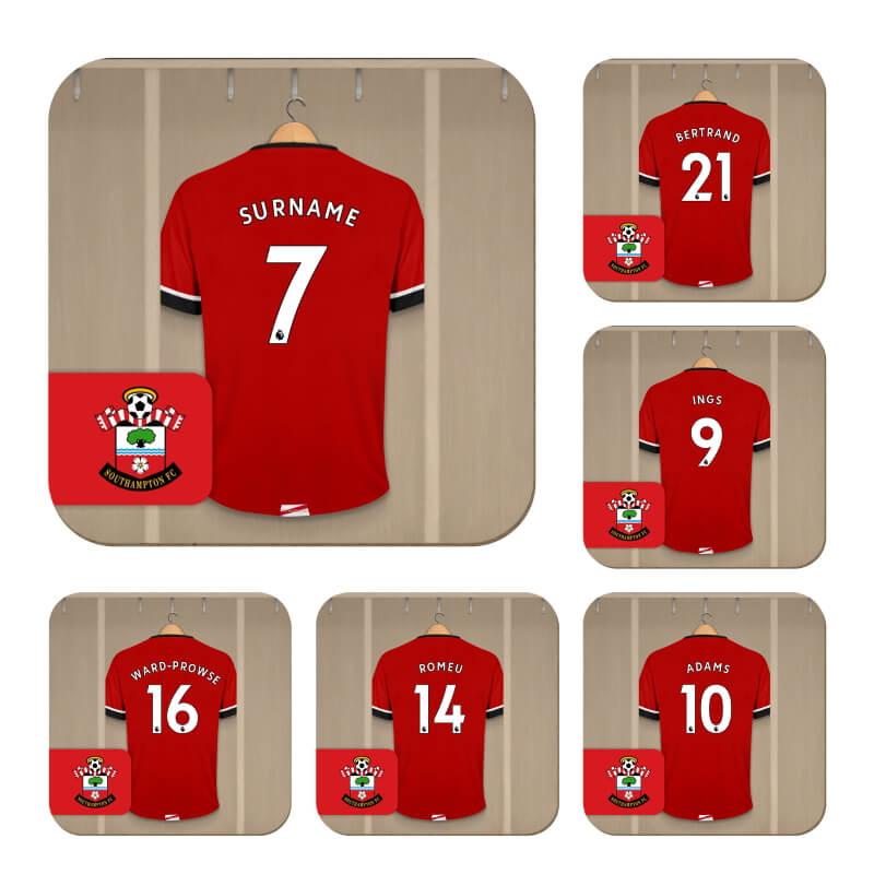 Personalised Southampton FC Dressing Room Coasters