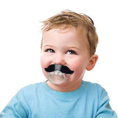 Baby Moustache Dummy