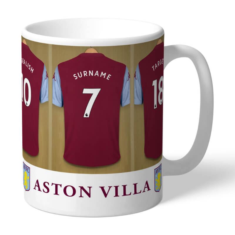 Personalised Aston Villa Dressing Room Mug