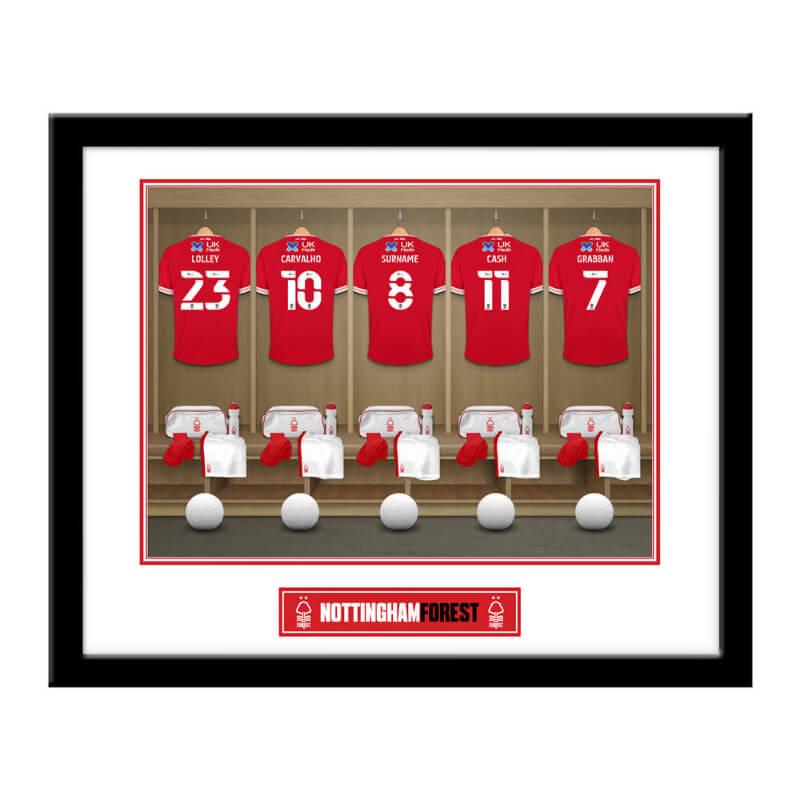 Personalised Nottingham Forest FC Dressing Room Framed Print