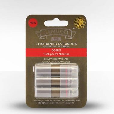 Gamucci Micro Cigarette 3 Cartomizer Refill Pack - Coffee