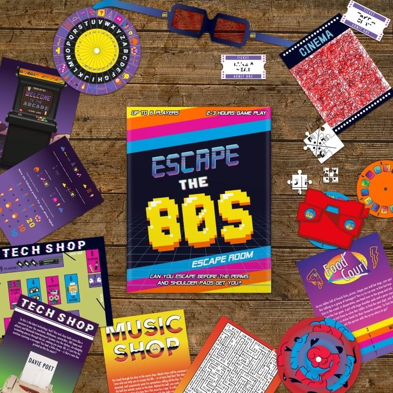 80's Escape Room Board Game