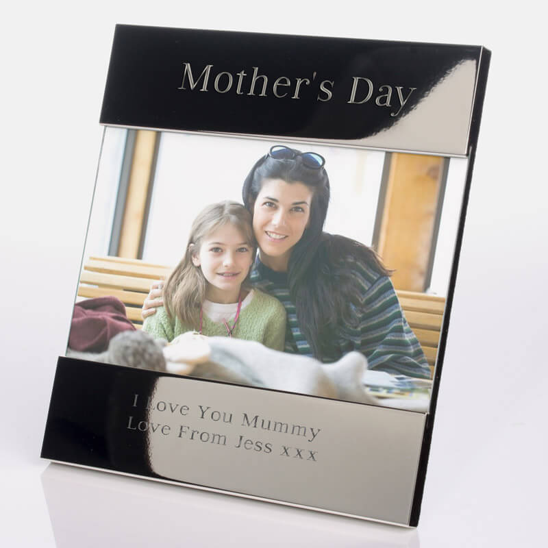 Personalised Silver Photo Frame - Mothers Day - Buy from Prezzybox.com