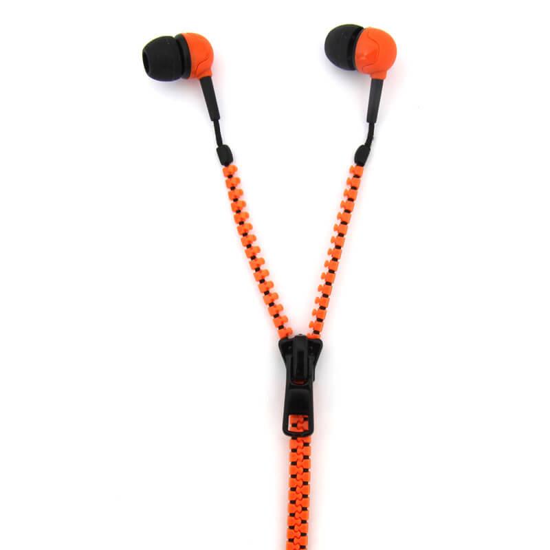 Zip Earphones - Orange