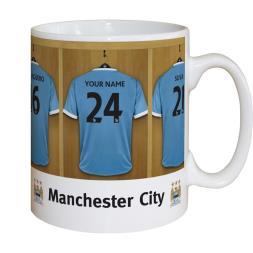 Personalised Dressing Room Mug - Man City