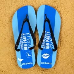 Personalised Hen Do Flip Flops