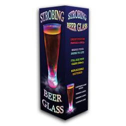 LED Strobing Beer Glass