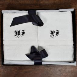Personalised Luxury Bath Towels - Set Of Two