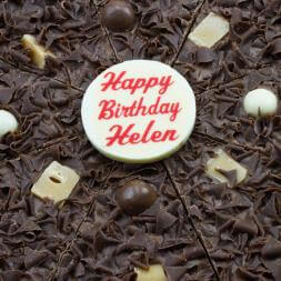 Personalised Birthday Chocolate Pizza 10""