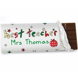 Personalised Best Teacher Chocolate