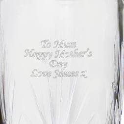 Personalised Crystal Oval Vase