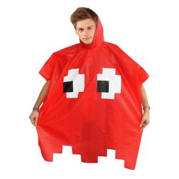 Retro Arcade Poncho - Red