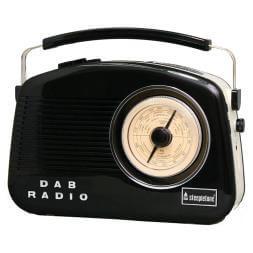 Steepletone Dorset DAB Retro Style Radio - Black