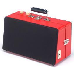 Steepletone 1960's Vinyl Record Player -  Red