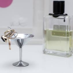 Martini Glass Jewellery Holder