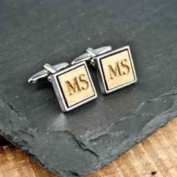 Personalised Wooden Cufflinks