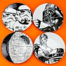 Star Wars Plates - Set Of 4