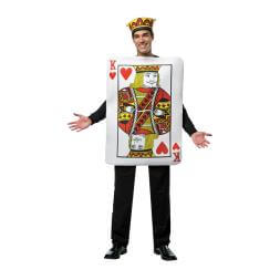King Of Hearts Playing Card Costume -  Mens