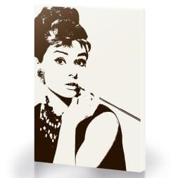 Audrey Hepburn White Cigarello Large Canvas