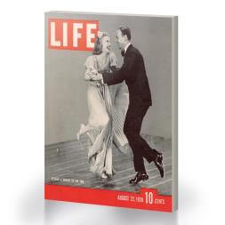 Ginger Rogers and Fred Astaire Time Life Cover Canvas