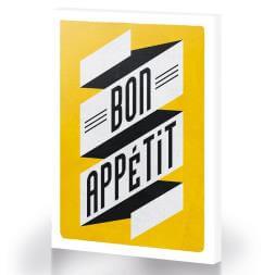 Bon Appetit Large Canvas