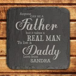 Personalised Daddy Slate Keepsake