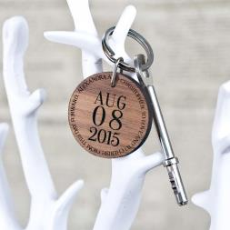Personalised Special Date Round Keyring