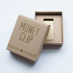 Brass Plated Money Clip - Living Well Is The Best Revenge