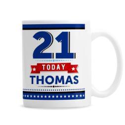 Personalised 21st Birthday Star Mug