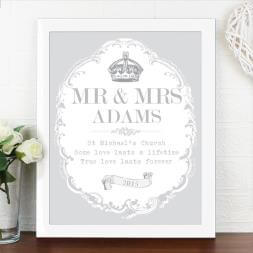 Personalised Royal Crown Print