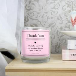 Personalised Classic Pink Scented Jar Candle