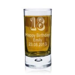Personalised 18th Birthday Shot Glass