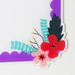 Personalised Floral Memo Board
