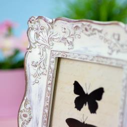 Antique White Photo Frame