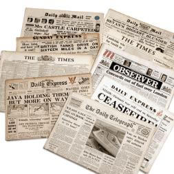 Original Archive Newspaper in Presentation Box