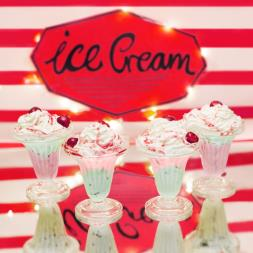 Retro Sundae Glasses (Set of 4)