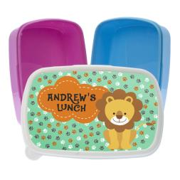 Personalised Little Lions Lunch Box