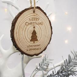 Personalised Christmas Tree Hanging Decoration