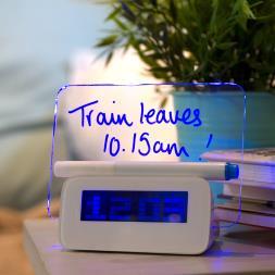 Scribble Writing Alarm Clock