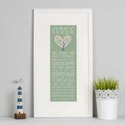 Personalised 90th Birthday Print