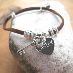 Personalised Suede Key Bracelet