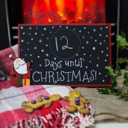 Santa Christmas Countdown Blackboard