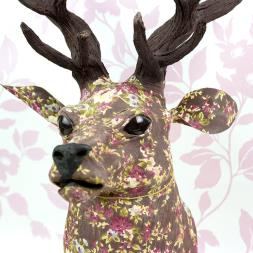 Floral Wall Mounted Stag Head