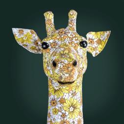 Floral Giraffe Head Wall Mount