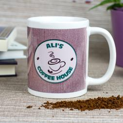 Personalised Coffee House Takeaway Mug