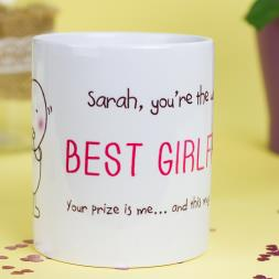 Personalised Chilli & Bubble's Mug - Best Girlfriend