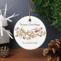 Personalised Christmas Floral Decoration