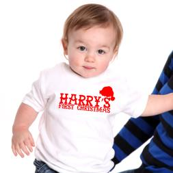 Personalised 1st Christmas T-Shirt & Hat
