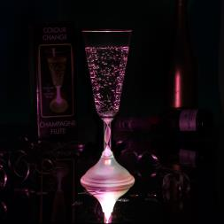 LED Champagne Glass