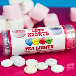 Love Hearts Tea Lights